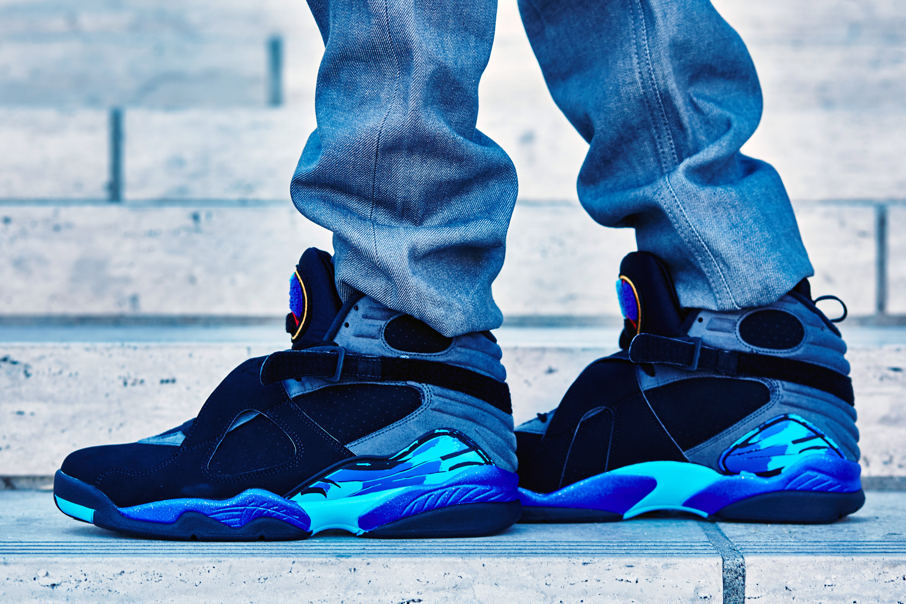 Air Jordan 8 Aqua On-Foot Look