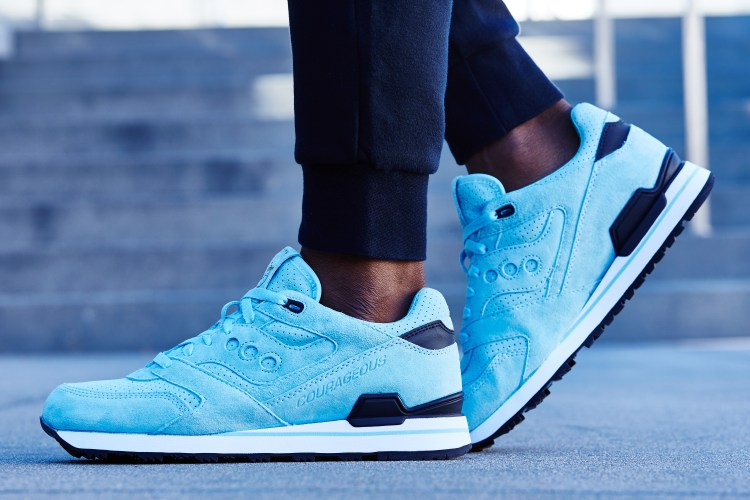 Sneaker Politics x Saucony Courageous On-Foot Look