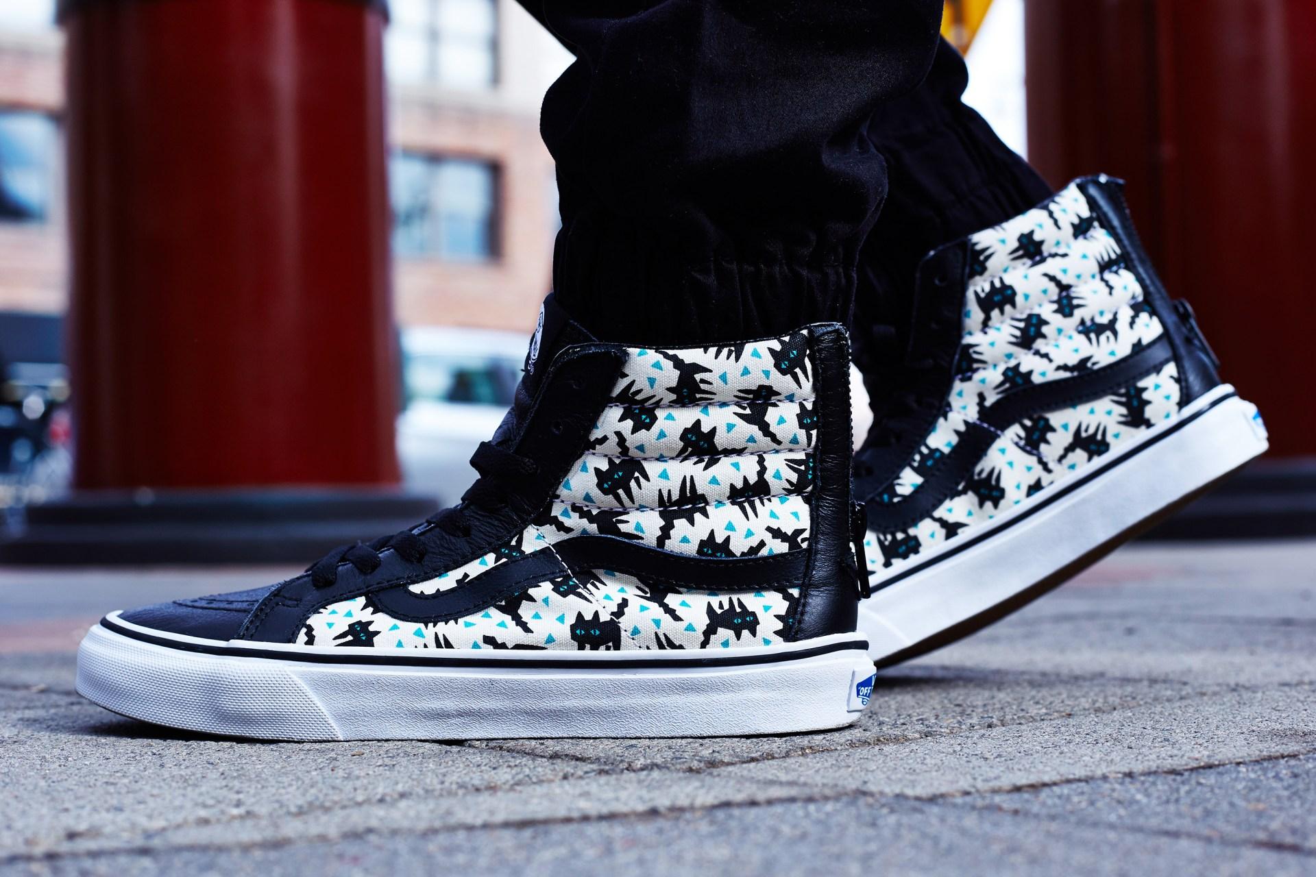 On-Foot Look    Eley Kishimoto x Vans Sk8-Hi Zip  c5782fd7c0