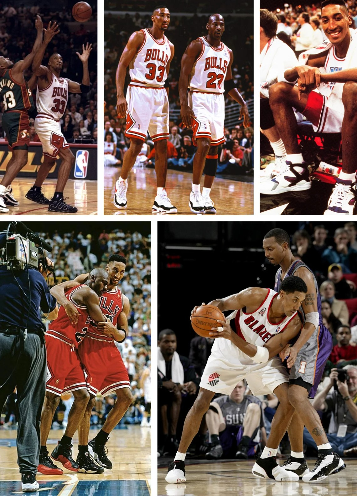 Scottie Pippen Kicks On Court
