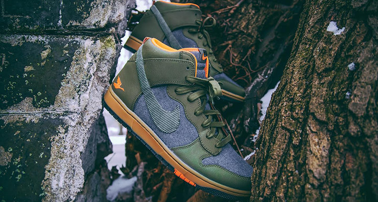 "pretty nice 44922 7257b These Duck-Specific Dunk Highs Join the ""Swoosh Social Club"""