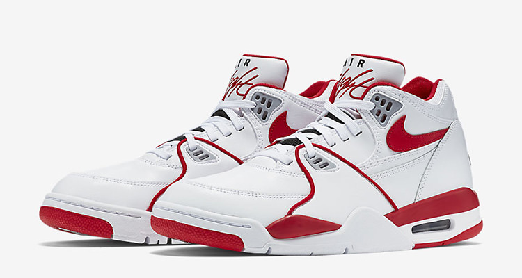 new product 379dd 01b08 Nike Air Flight 89 White University Red