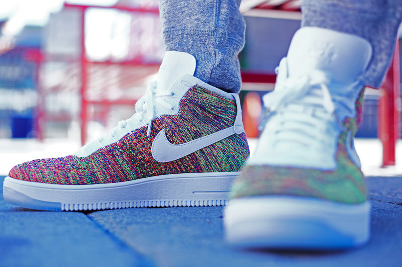 buy online c30d3 122ac On-Foot Look // Nike Air Force 1 Ultra Flyknit High ...