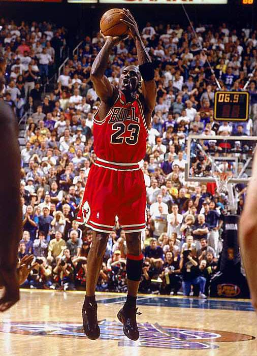 "7541e880791d2a ... last shot Michael Jordan will ever take in the NBA."" photo by John  Biever"