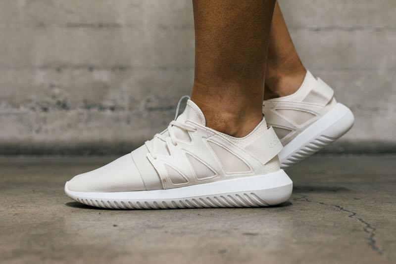 "los angeles 37a5b a046c On-Foot Look  adidas Tubular Viral ""Chalk White"""