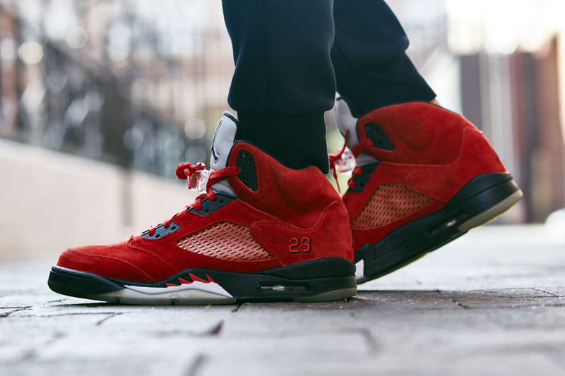 "more photos ad6c7 26cf0 On-Foot Look  TBT Edition    Air Jordan 5 ""Toro Bravo"""