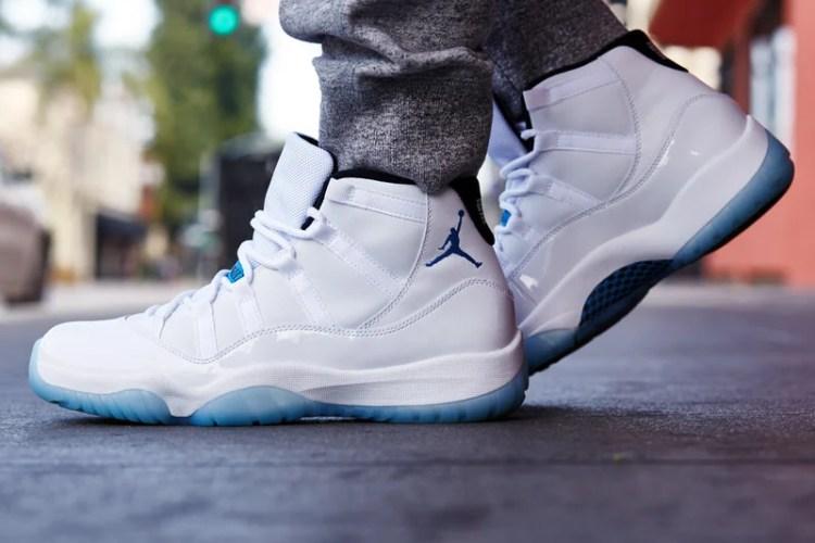 """Air Jordan 11 """"Legend Blue"""" On-Foot Look"""