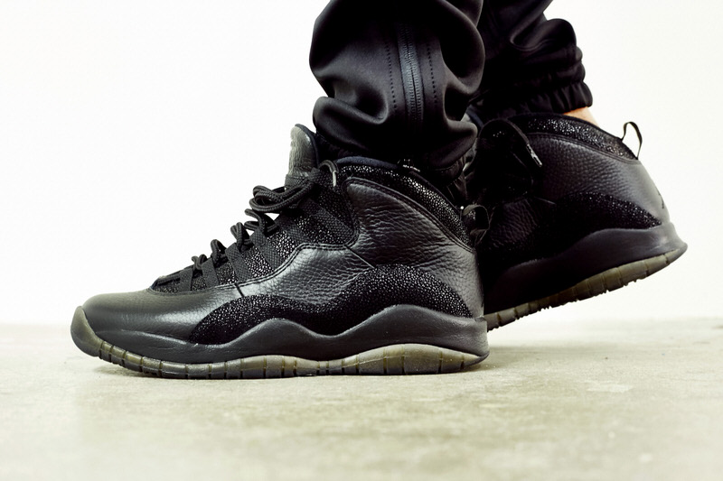 """Air Jordan 10 """"OVO"""" Black On-Foot Look"""