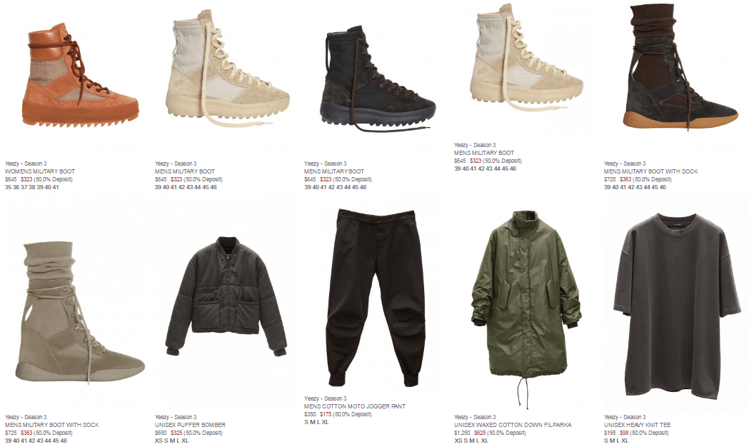 696f6932a Here s The Pricing For The Entire Yeezy Season 3 Collection