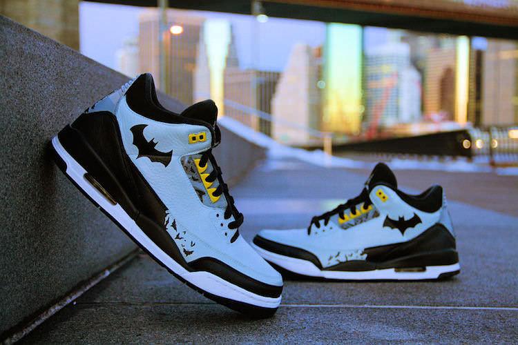 """the best attitude e0cd1 3cd38 """"Justice League Series  Batman"""" Air Jordan 3 Custom by Ecentrik Artistry     Custom Sneaker"""