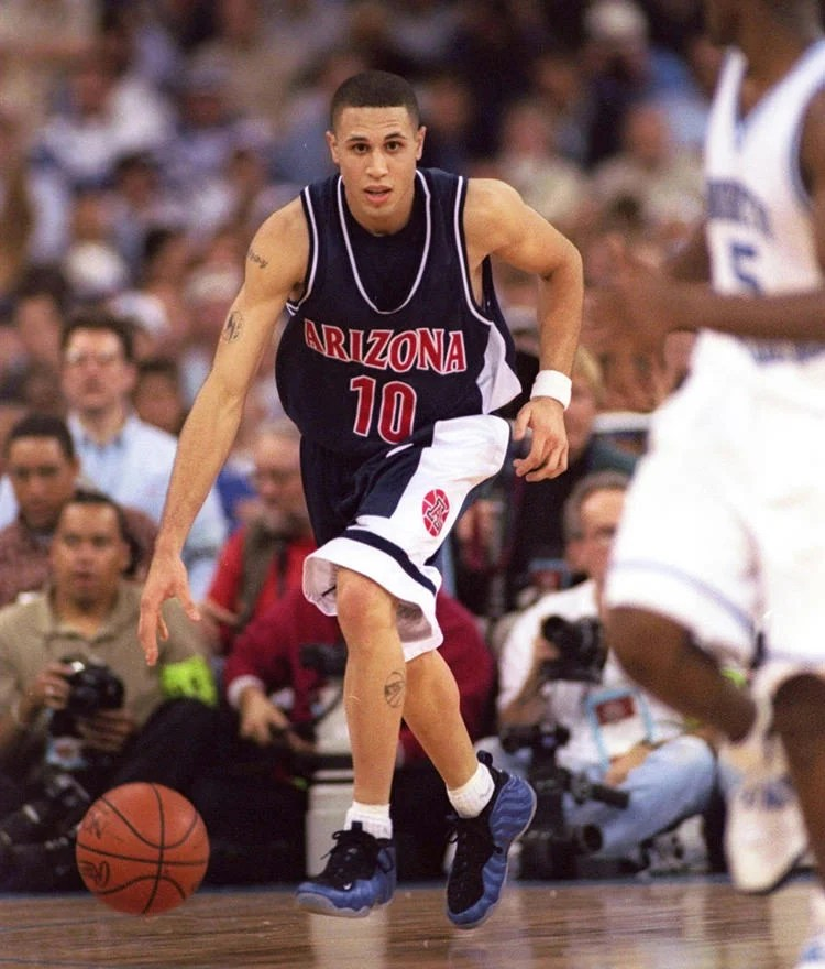 Mike Bibby in the Nike Air Foamposite One