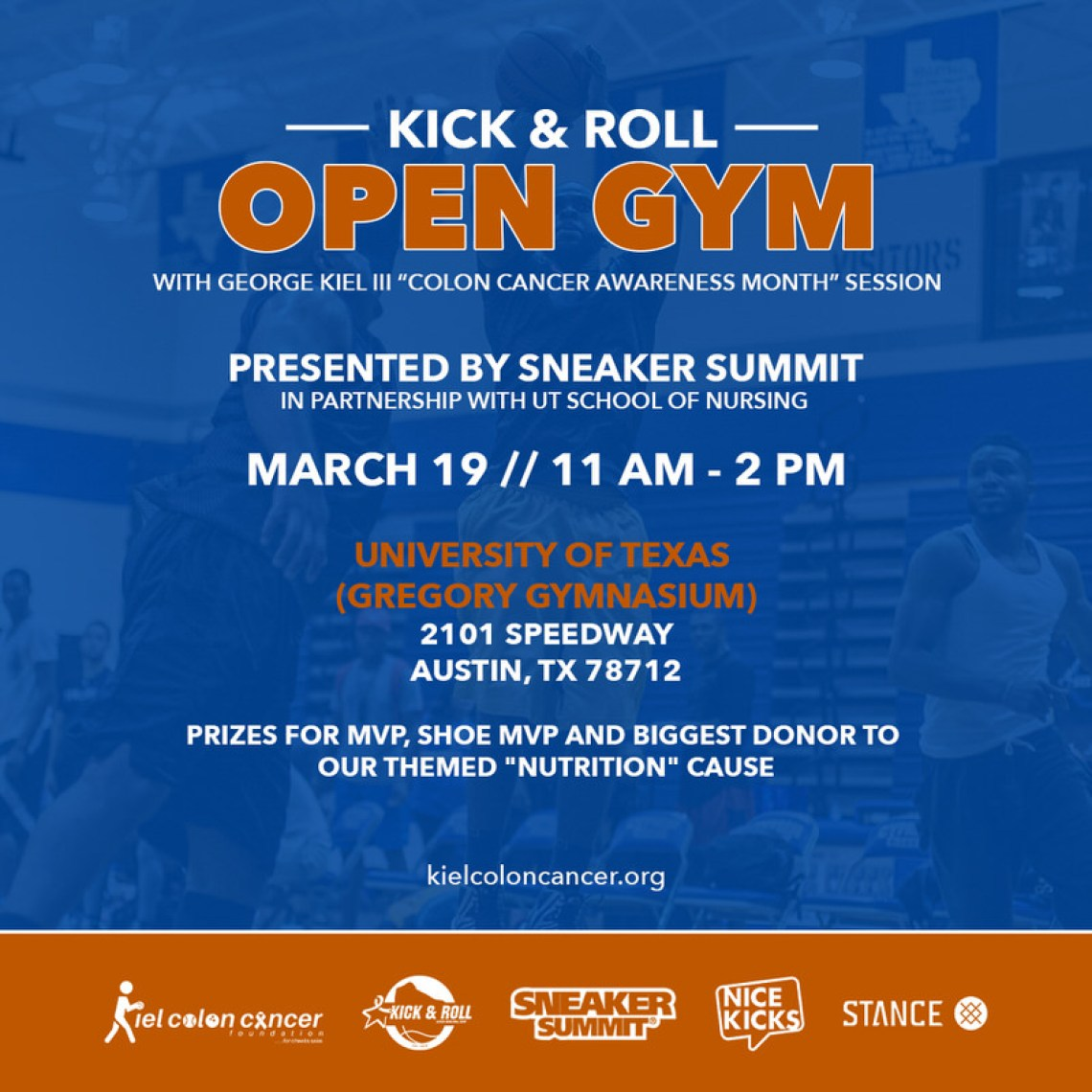 Kick & Roll Open Gym - March 19th in Austin, TX