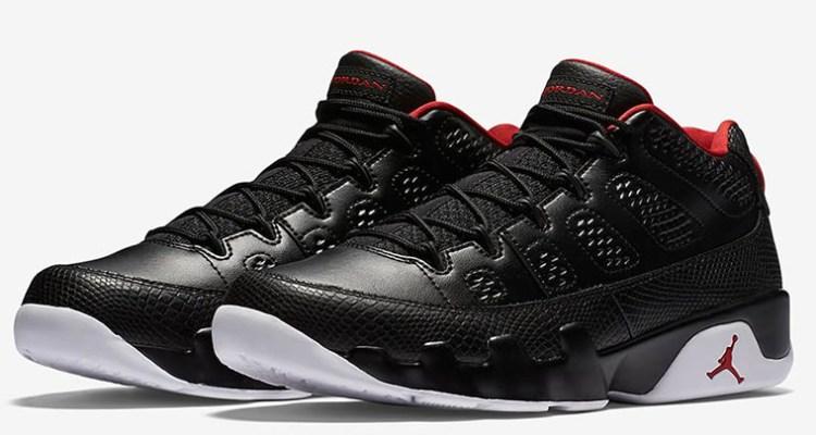 8b5cb128caa4 Air Jordan 9 Low Black University Red