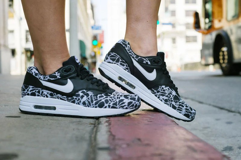 big sale cd40d 97b06 ... coupon for nike air max 1 jacquard black white on foot look 3bd9f 1a07a