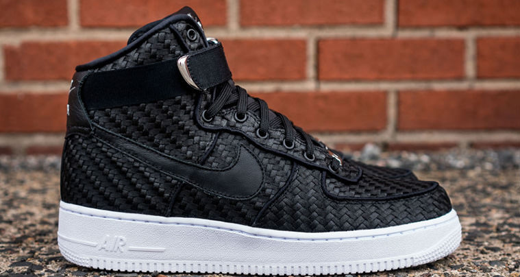 low priced a11a8 7e329 Nike Air Force 1 High Updated with Woven Upper