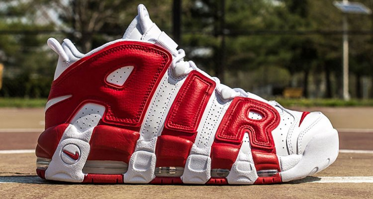 hot sale online 31bff c2ee7 Nike Air More Uptempo White Gym Red