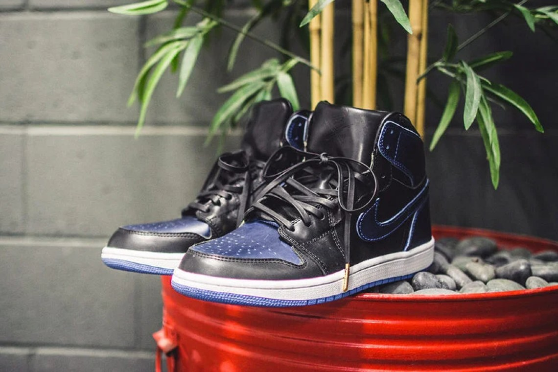 Air Jordan 1 Black/Royal Horween Leather