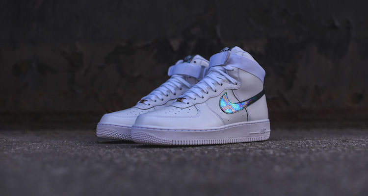 Nike Air Force 1 High LV8 White/Iridescent // Available Now ...