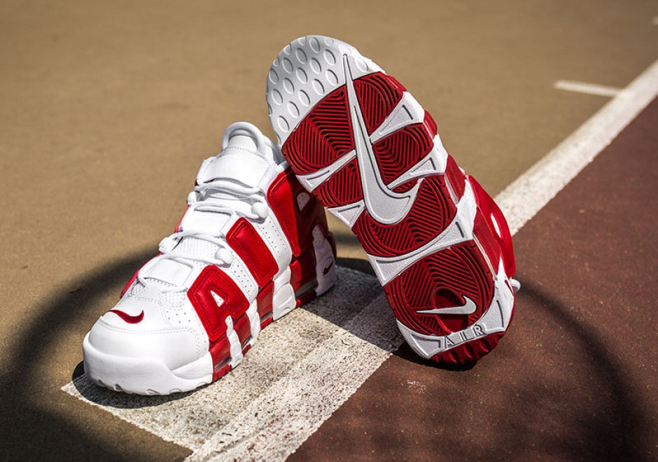 6818c3f678 Nike Air More Uptempo White Gym Red Drops Tomorrow