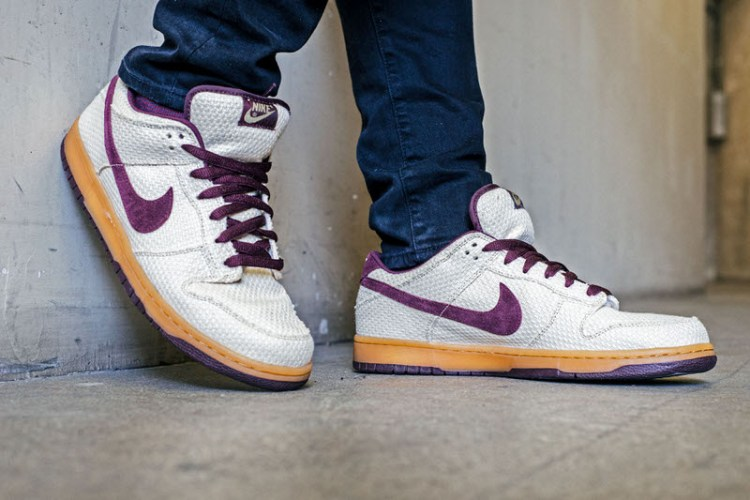 "Nike SB Dunk Low ""Burgundy Hemp"" On-Foot Look"