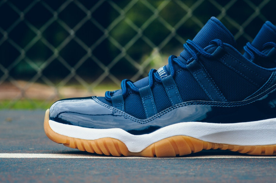 d4785f8cc02d25 Air Jordan 11 Low Navy Gum Drops This Weekend