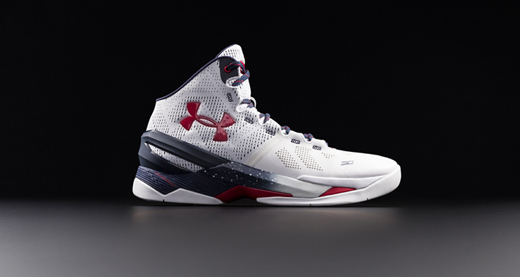 Under Armour Curry Two Red White Blue