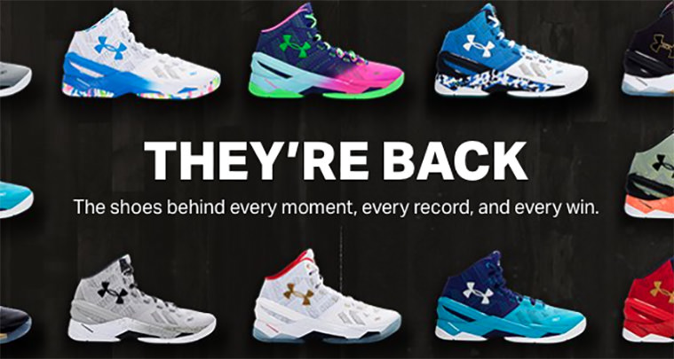 Under Armour Curry Two Restock