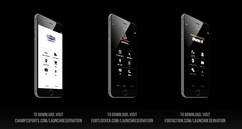 Foot Locker, Champs & Footaction Launch New App to Reserve Release Date Product