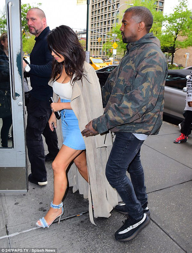 ... Kanye West in the adidas Yeezy Boost 350 V2 Black White 1ea4fa8d2