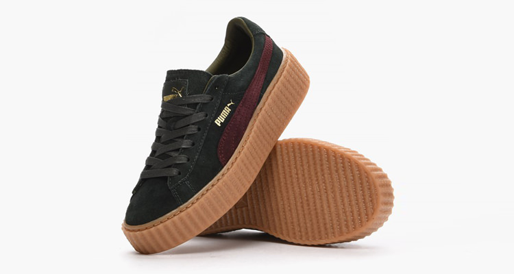 size 40 6babd 249b0 Rihanna x PUMA Suede Creeper Green/Bordeaux // Detailed Look ...