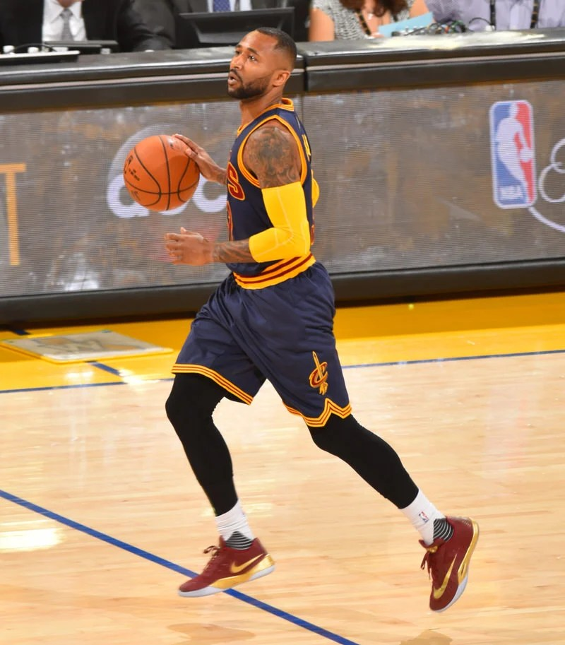 J.R. Smith wearing the Nike Zoom HyperRev 2015 OAKLAND, CA - JUNE 2 Mo  Williams 52 of the Cleveland Cavaliers dribbles ...