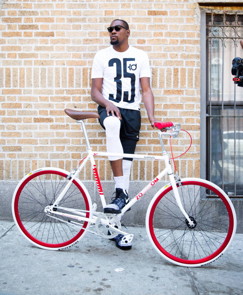 b054360d4fc9 Kevin Durant Cruised NYC On His Bike Delivering the Nike KD 9