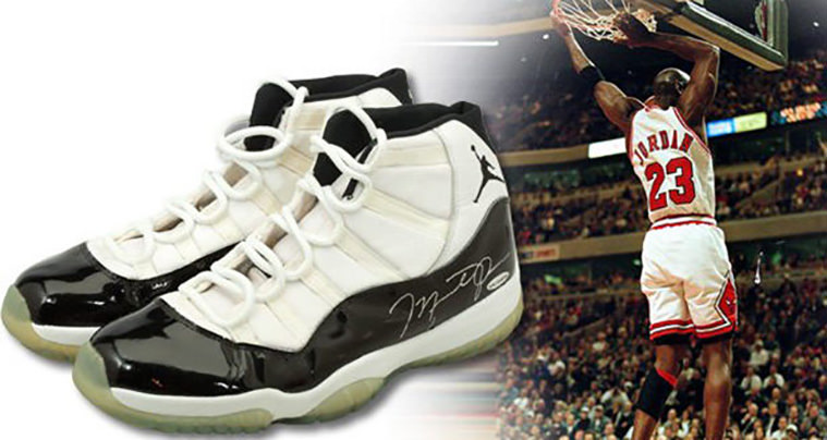 """d1204670973424 Michael Jordan s Air Jordan 11 """"Concord"""" From the 72-10 Season Are Up for  Auction"""