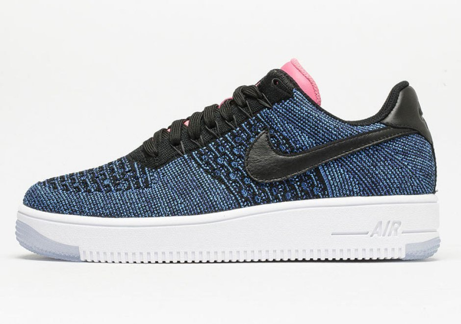 Nike Air Force 1 Flyknit Low Deep Royal Blue/Digital Pink