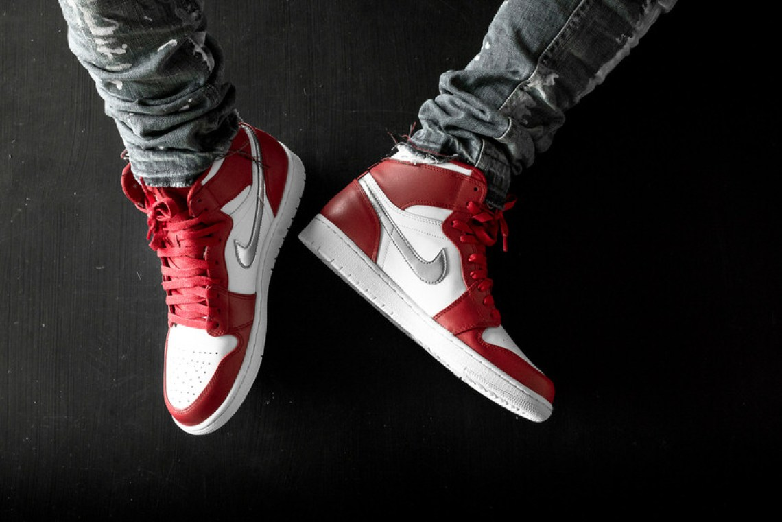 Air Jordan 1 High Gym Red Metallic Silver Release Date