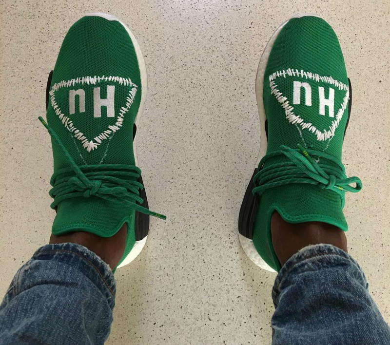 9a40f8499af90 Pharrell Customized His adidas NMD Collaborative Shoe