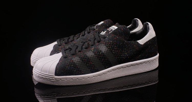 outlet store 41a3a dad81 adidas Superstar 80s Primeknit Black White