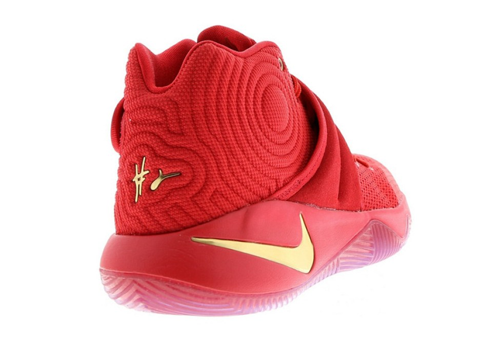 Nike Kyrie 2 Gold Swoosh
