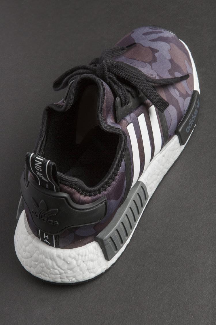 "A Bathing Ape x adidas NMD R1 ""Purple Camo"""