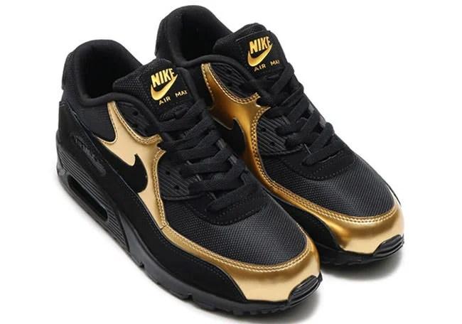 gold air max 90s