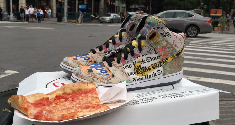 "Nike Dunk High ""What the NYC"" Custom"