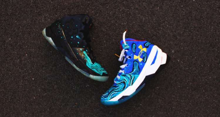 "Under Armour Curry 2 ""What The Splash"" Custom by Dizz Gavins"