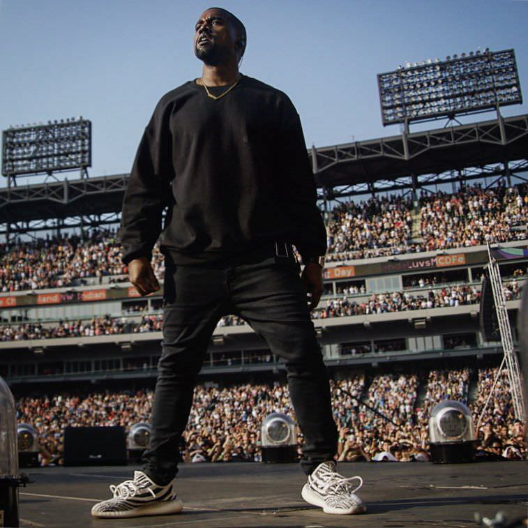 b15157f9742 Kanye West Wears Upcoming adidas Yeezy Boost V2 at Chance s ...