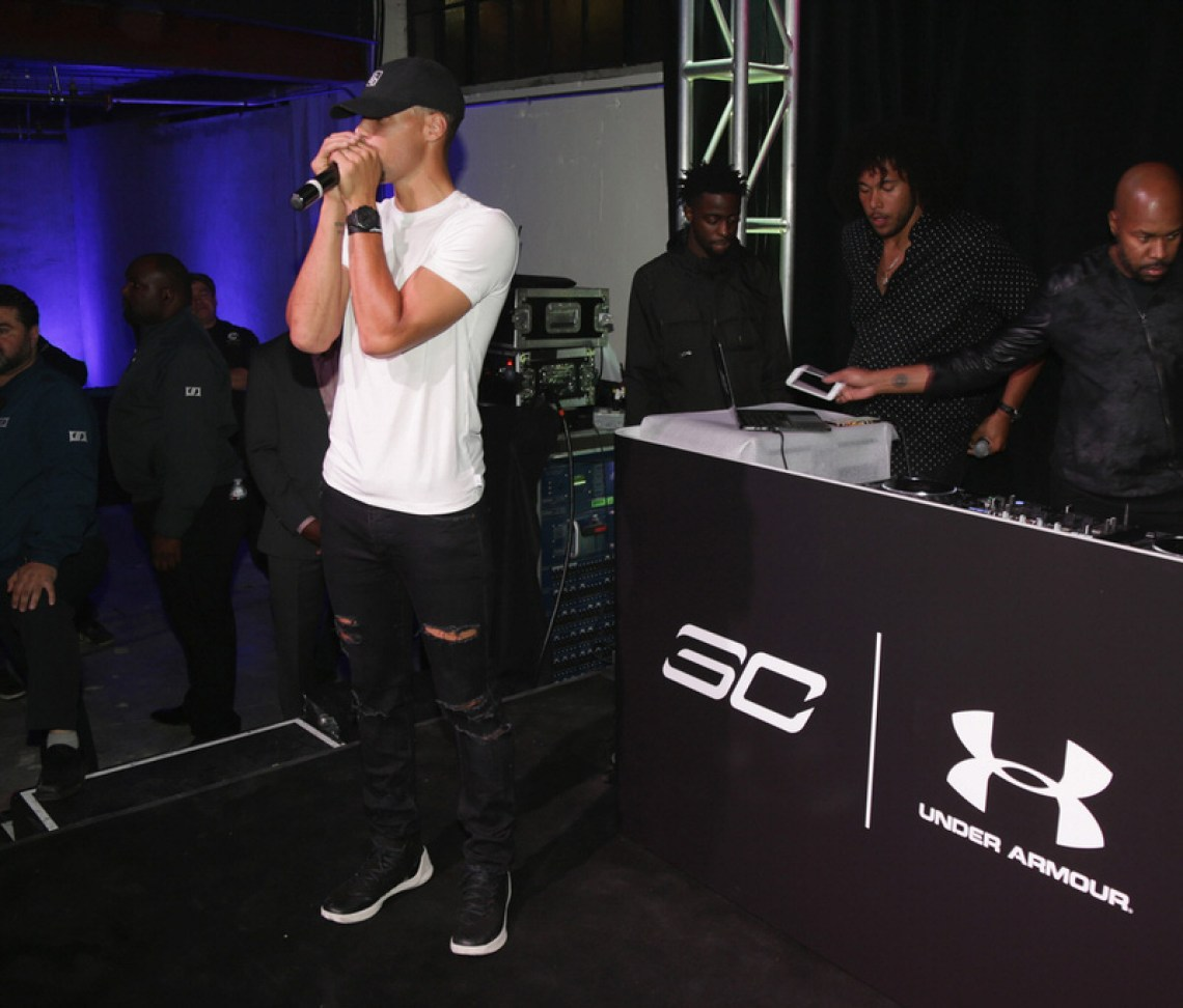 SAN FRANCISCO, CA - OCTOBER 22:  Stephen Curry attends the Under Armour Curry 3 Launch at Skylight Powerhouse on October 22, 2016 in the Bay Area, California.  (Photo by Jerritt Clark/Getty Images for Under Armour)