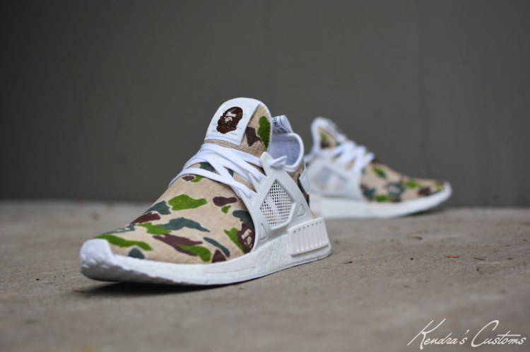 "adidas NMD XR1 ""Bape Camo"" Custom by Kendra's Customs"