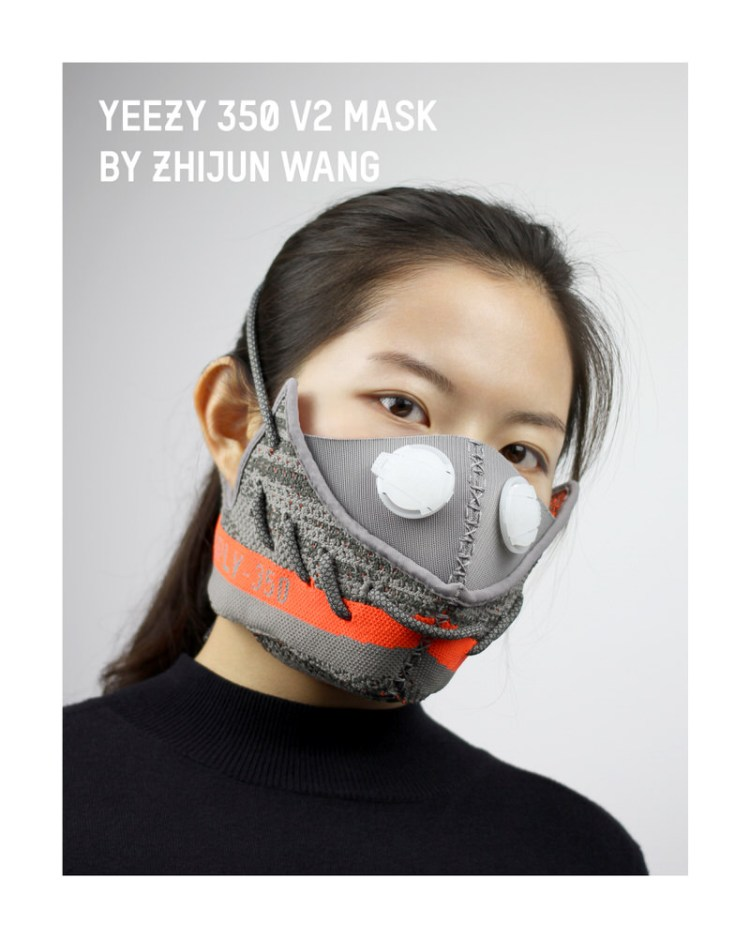 adidas Yeezy Boost 350 V2 Mask By Zhijun Wang