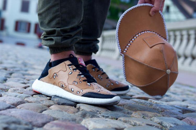 "adidas Pure Boost ""Desert Camo"" Custom by Kickink Kustoms"
