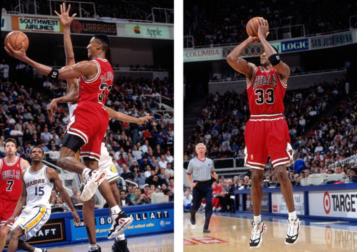 the latest 6add7 91c4d ... scottie-pippen-nike-air-max-uptempo-3-b Chicago Bulls v Golden State  Warriors ...