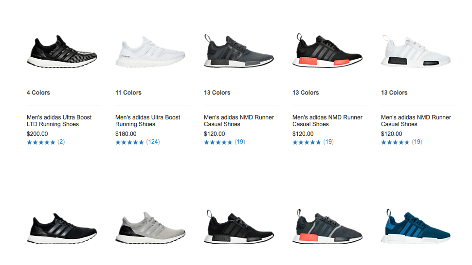 adidas Ultra Boost and NMD