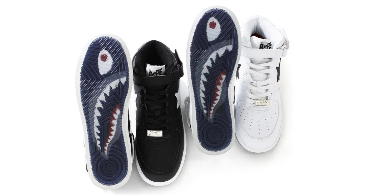 quality design 5c391 a25f4 BAPE is Releasing the Bapesta Mid With the Brand s Iconic Shark Graphic